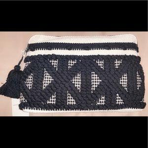 NWT Lucky Brand crochet Clutch bag purse